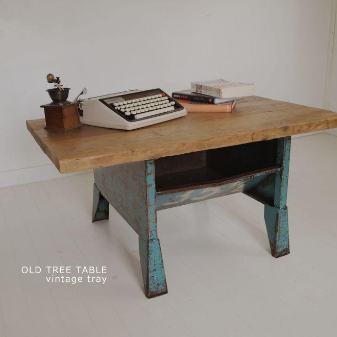 古材天板とイギリスヴィンテージのテーブル 1