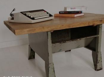 ローテーブル イギリスビンテージ工具ラック