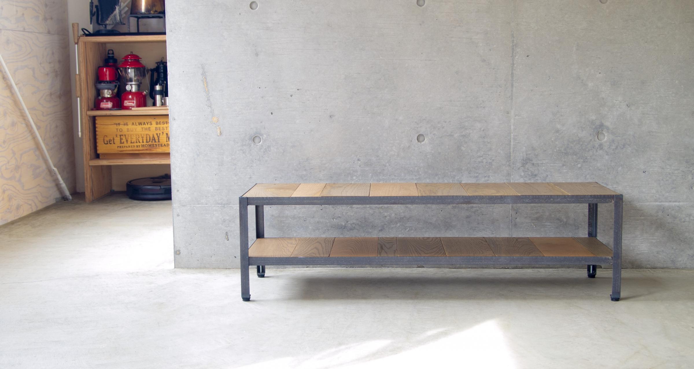 AV board  /  Iron frame & white oak