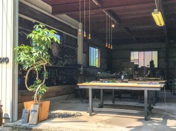 工房がレンタル工房としてオープンしました。